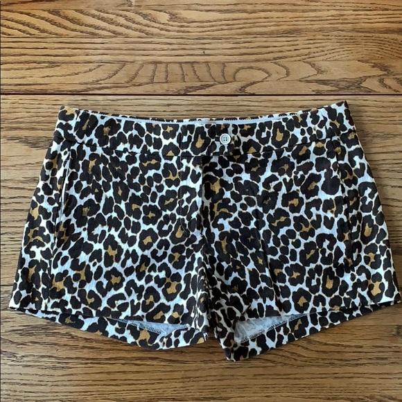 J. Crew Pants - SOLD! J. Crew animal leopard print shorts brown 6